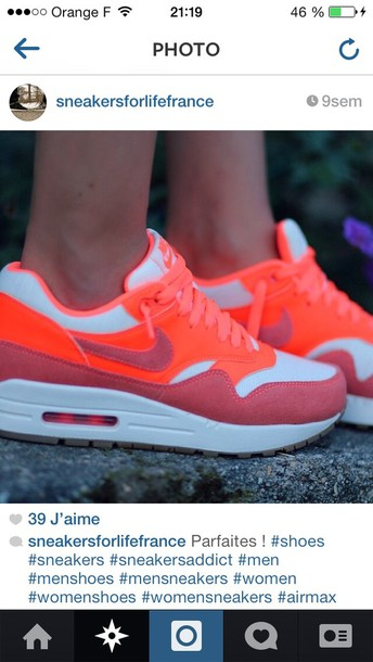 shoes orange nike air max 90