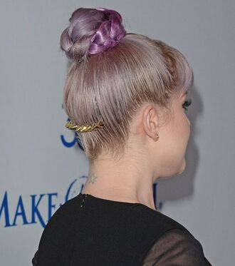 blogger bun hairstyles hair accessory spikes kelly osbourne pastel hair