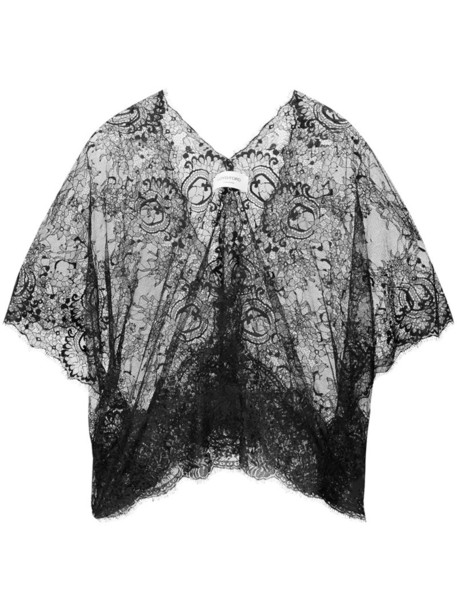 Loyd/Ford blouse women lace black top