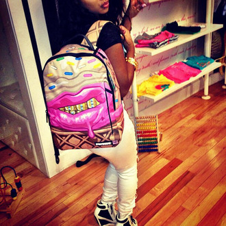 ice cream grillz lipstick sprinkles sprayground backpack bag