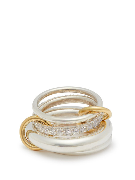 SPINELLI KILCOLLIN Luna diamond, gold & sterling-silver ring