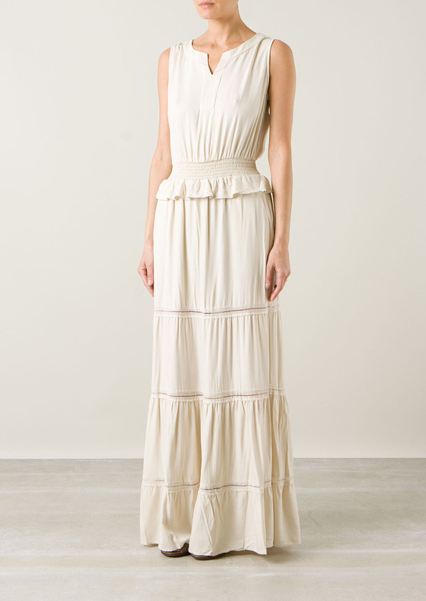 dress sea ny long beige dress