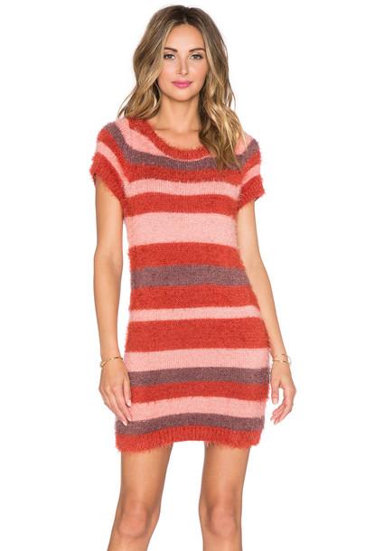 For Love & Lemons dress sweater dress burgundy