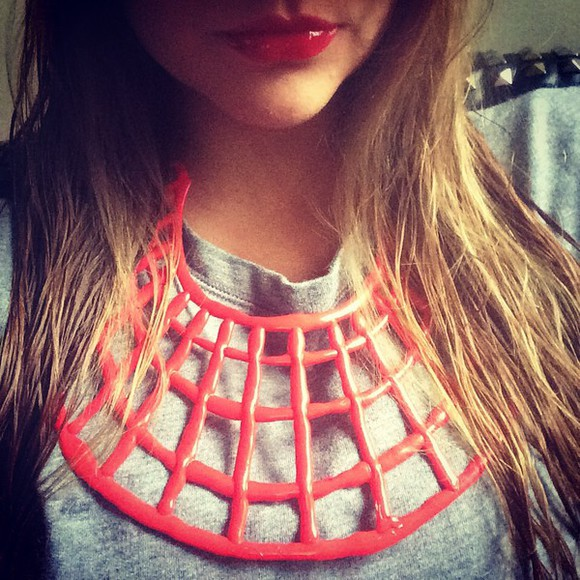 beauty jewels necklace chic glam redlips look instagram instagramfashion