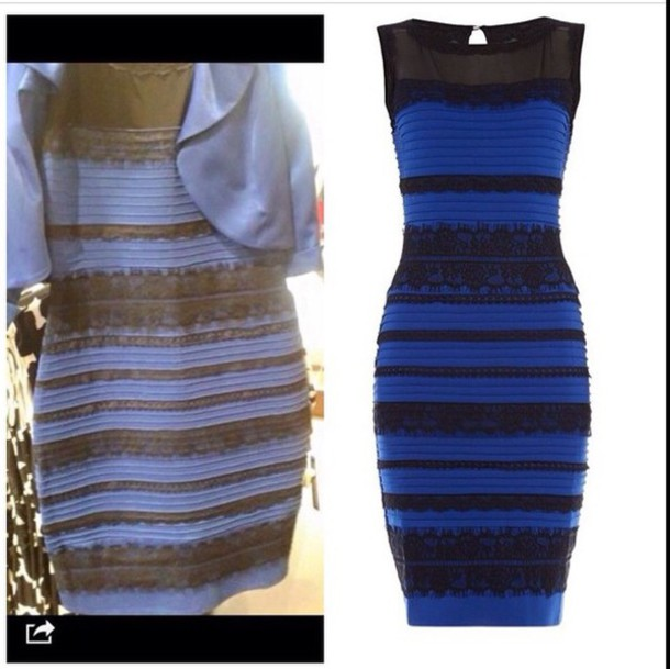 Dress Yellow And White Blue And Black Blue And Black