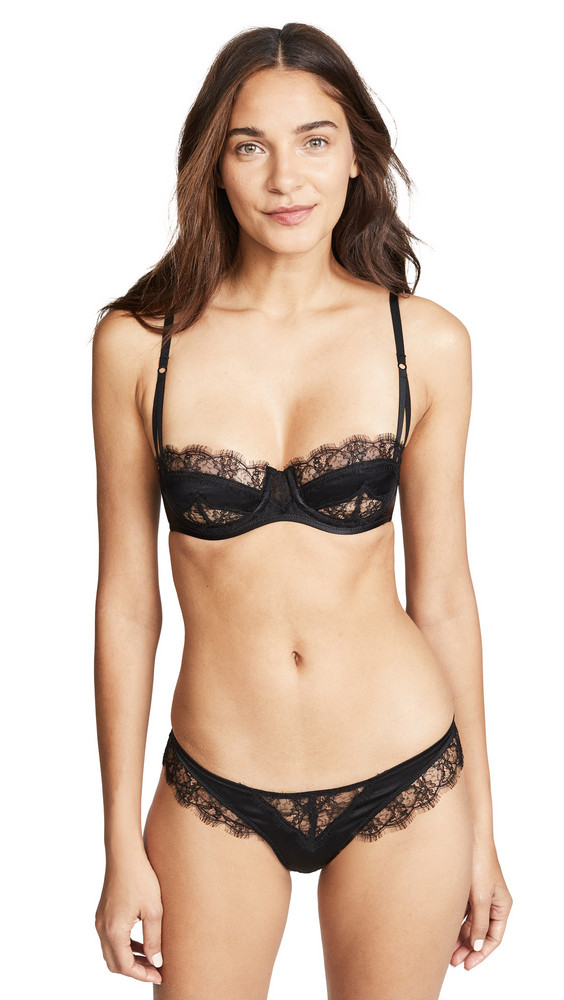 Kiki De Montparnasse Icon Lace Balconette Bra in black