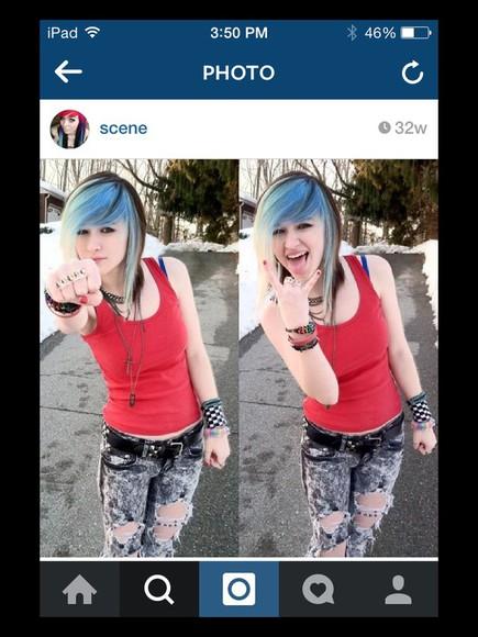 acid wash jeans alternative emo scene