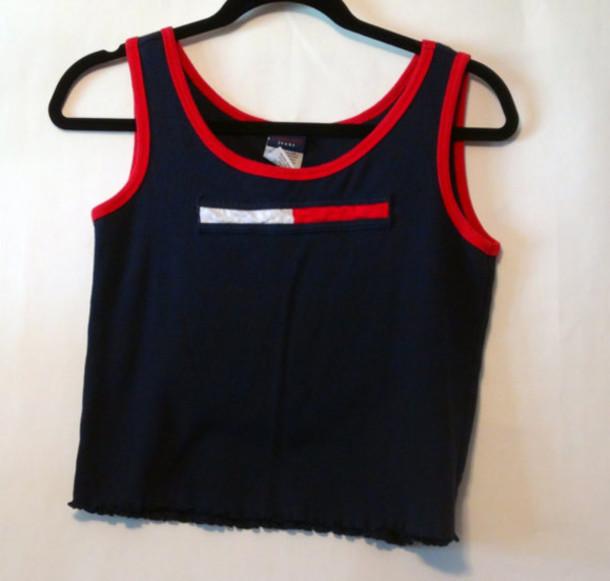 shirt 90s style club kid clubkid tommy hilfiger tommy hilfiger crop top crop tops t-shirt