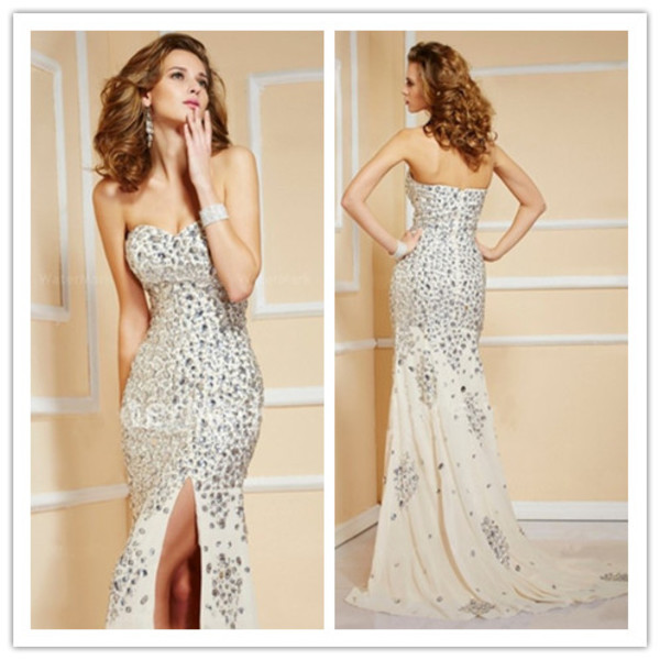 luxury dress beaded dress strapless dress beaded  dress off the shoulder dress crystal dress red carpet women  dress 2014 dress stunning dress fashion dress dress