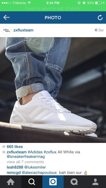 shoes white adidas zx flux boys shoes