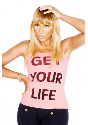 Get Your Life - Tank Top - Pop Pink - W/ Stones