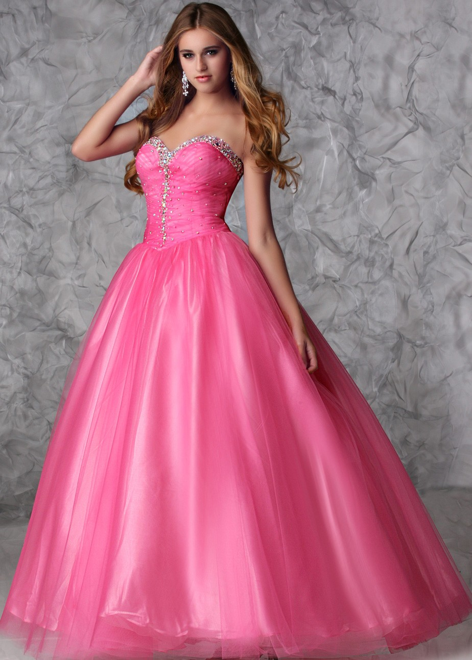 Xcite 30323 Hot Pink Beaded Sweetheart Prom Dresses Rissyrooscom