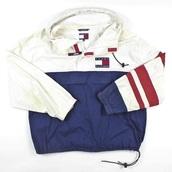 jacket,blue jacket,tommy hilfiger,tommy hilfiger jacket,vintage,tommy hilfiger windbreaker,windbreaker