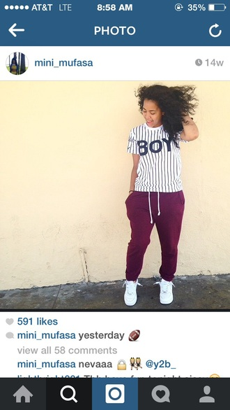 shirt striped shirt pants