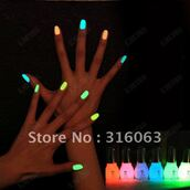 jewels,neon,color/pattern,swag,nail polish,neon nail polish,fluo,fluor,green,orange,blue,nails