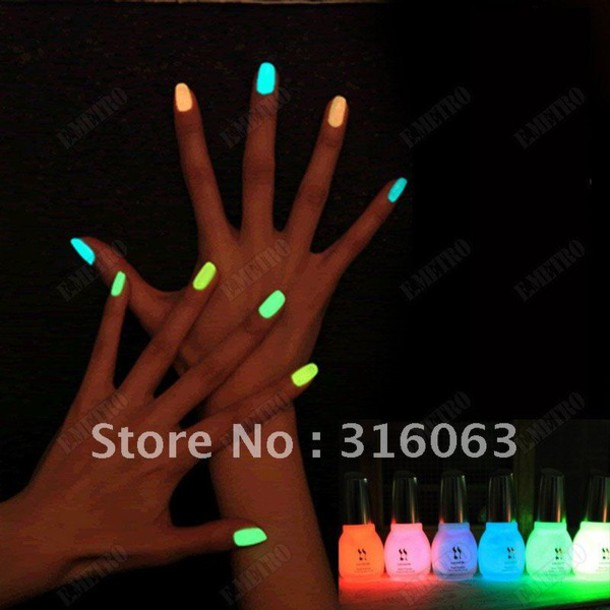 jewels, neon, color/pattern, swag, nail polish, neon nail polish ...