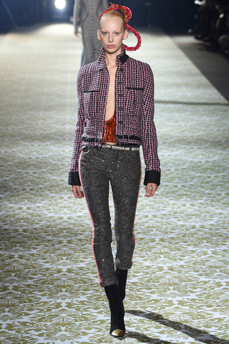 jacket fashion week 2016 paris fashion week 2016 pants fall jacket model runway haider ackermann