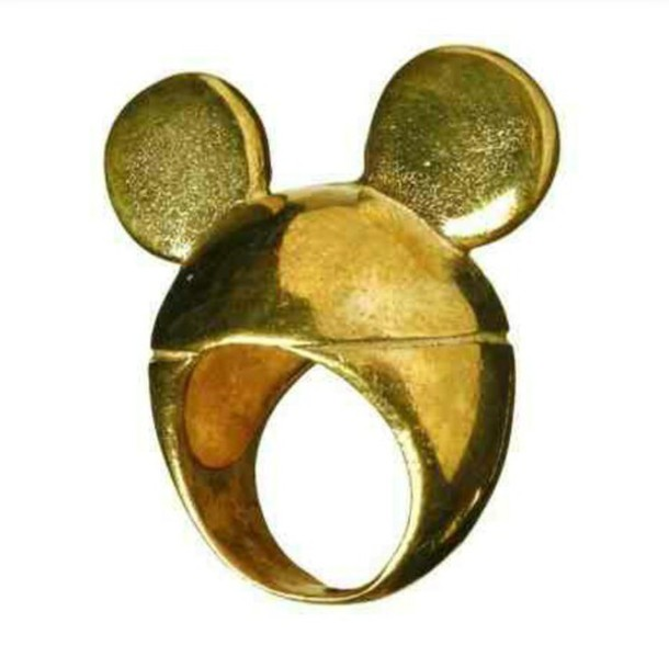 jewels mickey mouse gold ring