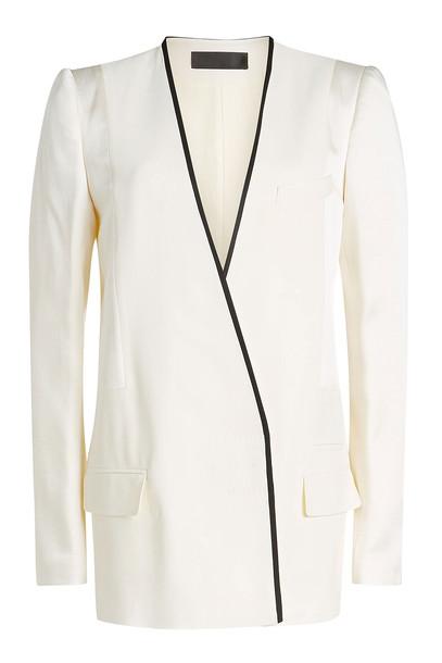 Haider Ackermann Collarless Blazer  in white
