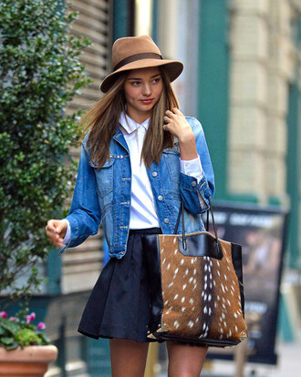 Miranda Kerr Denim Jacket June 2017