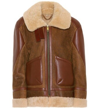 coat leather brown