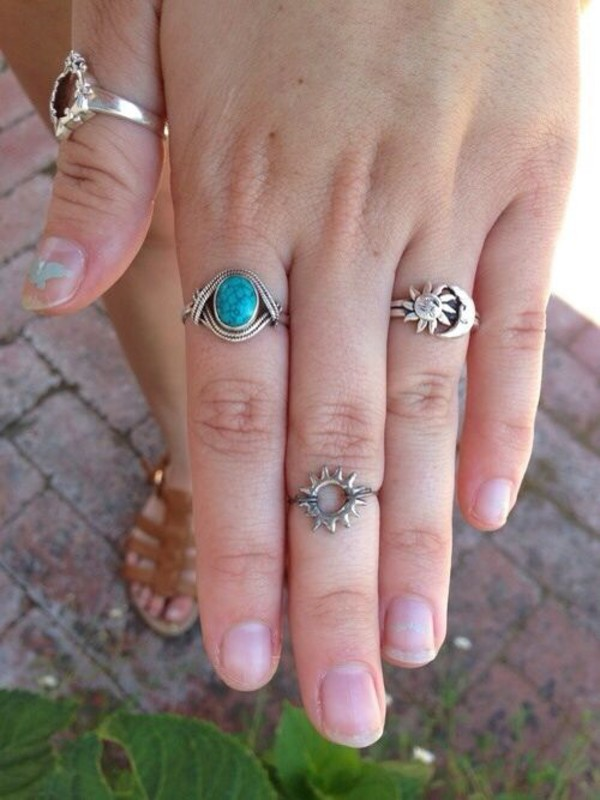 jewels moon sun and moon ring ring sun ring sun moon ring knuckle ring