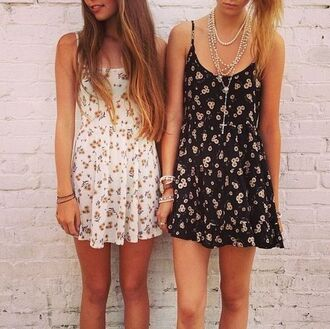 dress cute summer cute summer dress summer dress flowers floral floral dress cute dress spring girly white dress black dress