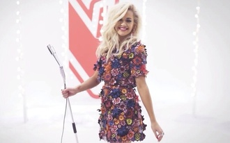 dress rita ora flower 2 piece skirt set