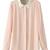 ROMWE | ROMWE Rhinestone Collar Long Sleeves Pink Shirt, The Latest Street Fashion