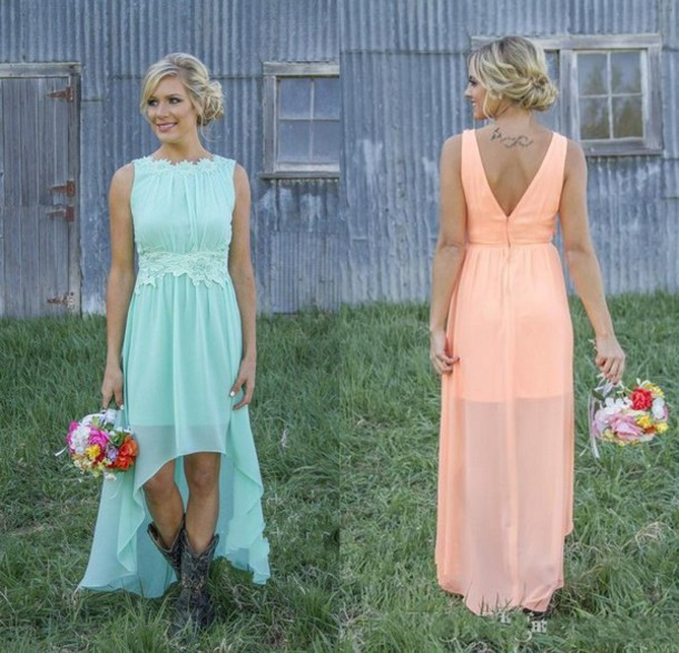 Dress Bridesmaid Long Bridesmaid Dress Mint Dress