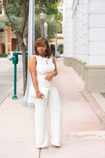 Jumpsuit Date Outfit Plus Size Jumpsuit Curvy Plus Size White