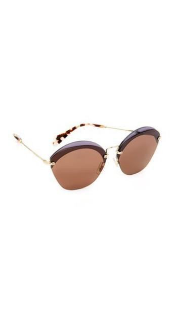 sunglasses transparent brown violet