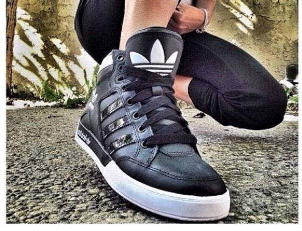 shoes black adidas shoes white sneakers