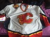 jacket,calgary flames,calgary,white,ccm,jersey,replica