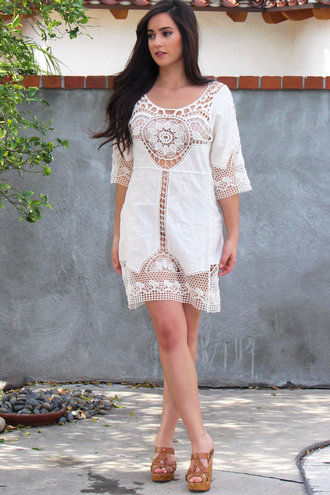 dress style fashion crochet crochet dress lace lace dress beach beach dress cover up boho dress bohemian boho chic boho instagram musthave outfit outfits outfit fashion mini dress coachella festival festival dress blogger indie