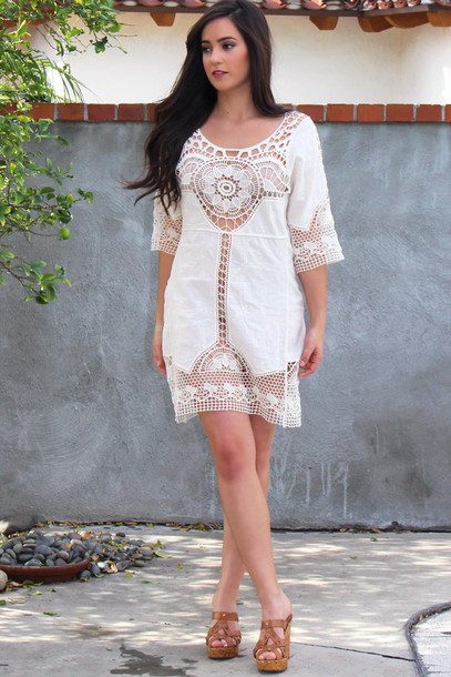 dress style fashion crochet crochet dress lace lace dress beach beach dress cover up boho dress bohemian boho chic boho instagram musthave outfit outfit fashion mini dress coachella festival festival dress blogger indie