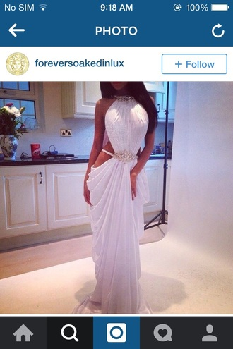 dress white prom gown