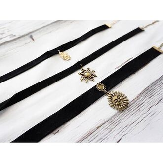 jewels gold soul choker necklace chokere velvet dhokre accessproes accessories
