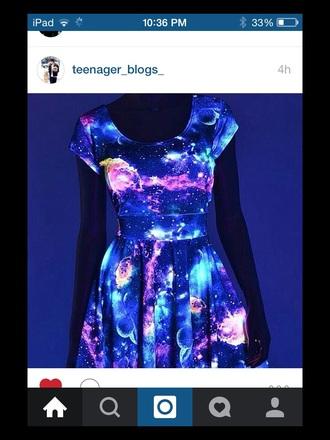 dress glow in the dark neon cute dress colorful dress high low dress