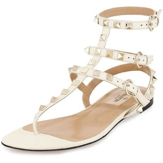 shoes white studded shoes valentino gladiators