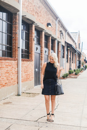 style archives | the style scribe,blogger,top,skirt,bag,shoes,jewels,make-up,button up,button up denim skirt,button up skirt,denim skirt,mini skirt,blue skirt,tote bag,black bag,sleeveless top,sleeveless,black top,sandals,sandal heels,high heel sandals,black sandals