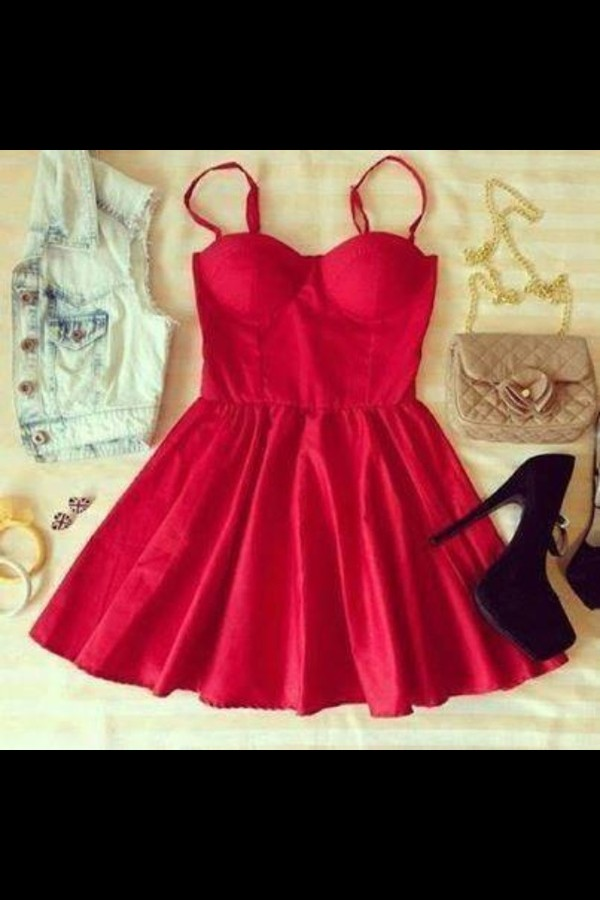 dress cute red dress everyday dress shoes