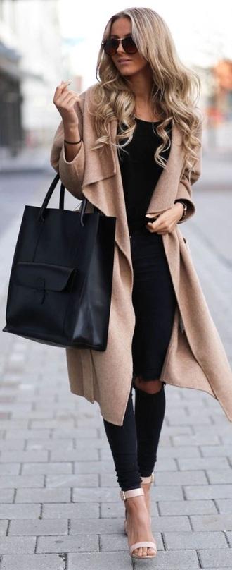 coat beige jacket beige coat winter coat winter jacket winter outfits winter sweater beige black black coat bag