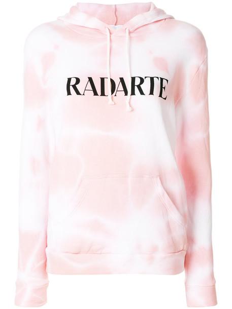 Rodarte - Radarte tie dye hoodie - women - Cotton/Polyester - L, Pink/Purple, Cotton/Polyester