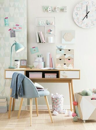 home accessory tumblr home decor furniture home furniture home office table lamp chair pastel