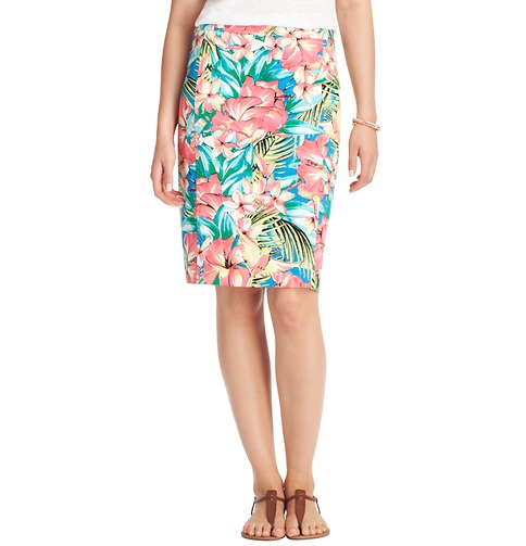 tropical floral pencil skirt loft