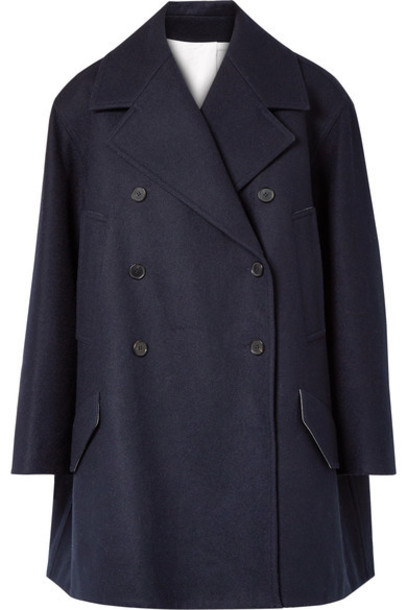 CALVIN KLEIN 205W39NYC coat blue wool