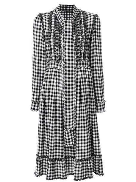 dress women silk wool gingham