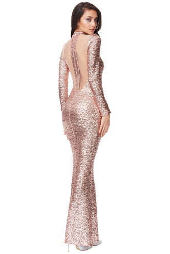 Sequin Cut Out Maxi Dress