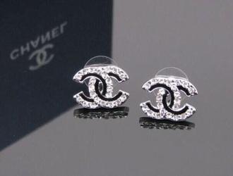 jewels chanel earrings crystal black